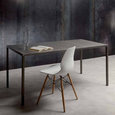Fixed dining table, steel top – Recale