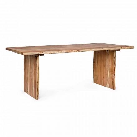 Homemotion Modern Acacia Wood Dining Table - Pinco