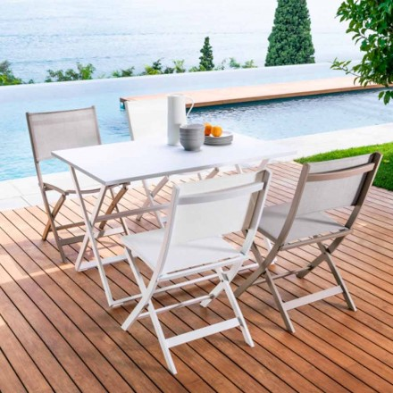 Folding aluminium garden table Queen by Talenti