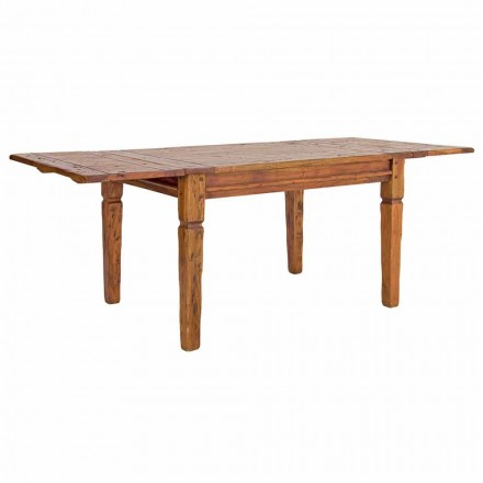 Classic Extendable Table Up to 290 cm in Solid Wood Homemotion - Carbo
