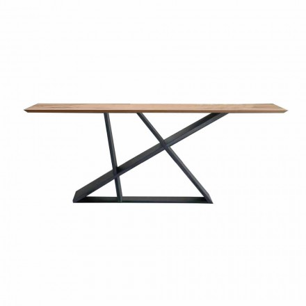 Extendable Dining Table Up to 294 cm in Wood, Made in Italy Quality - Cirio