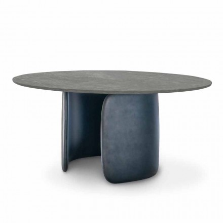 Dining Table in Ceramic with Polyurethane Base Made in Italy - Mellow Bonaldo