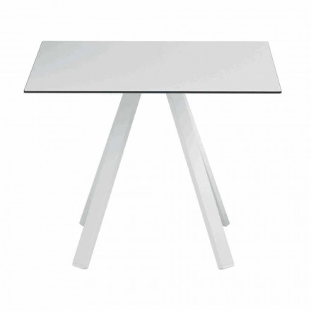 Square Outdoor Table in Metal and HPL Made in Italy - Deandre