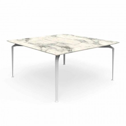 Square Table for Outdoor Modern Design Gres and Aluminum - Cruise Alu Talenti