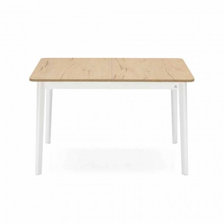 Rectangular Extendable Table up to 170 cm in Wood Made in Italy - Dine