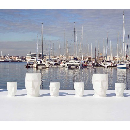 Modern outdoor face-shaped table Adan by Vondom, in polyethylene