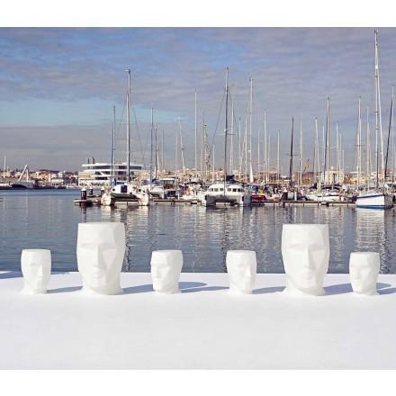 Modern outdoor face-shaped table Adan by Vondom, in polyethylene