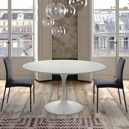 Extandable Round Table up to 170 cm in Laminated Made in Italy – Dollars