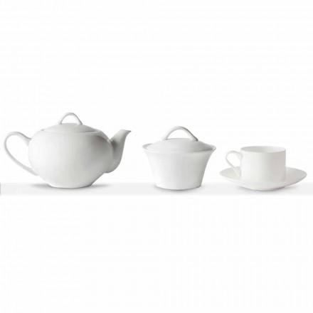 Stackable Tea Cups Breakfast Service 14 Pieces in Porcelain - Romilda