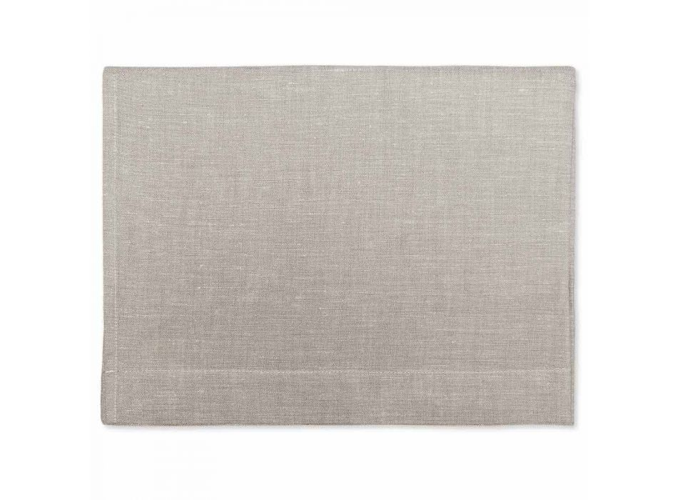 Bath Towel in Pure Cream or Natural White Linen Made in Italy - Blessy
