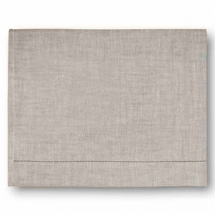 Modern Bath Towel in Cream White or Natural Linen Made in Italy - Chiana