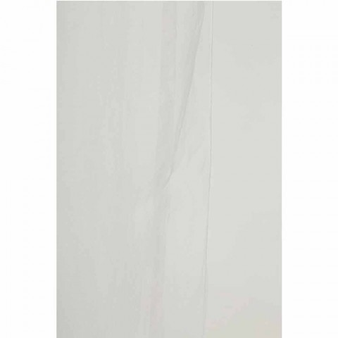 Curtain in Lightweight White or Retro Linen and Organza with Luxury Laces - Karnak