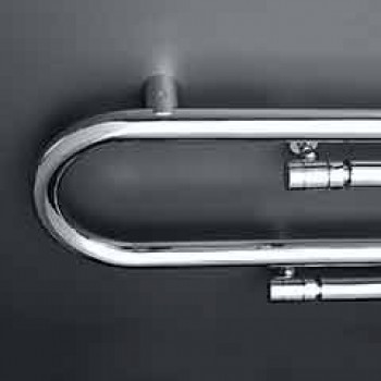 Thermowell design Hydraulic Graffiti with chromed finish by Scirocco H