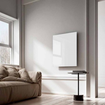 Infrared electric panel heater Clear, modern design, white glass
