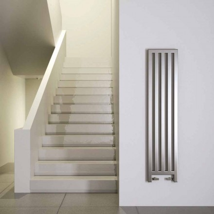 Modern chrome electric radiator New Dress by Scirocco H, made in Italy