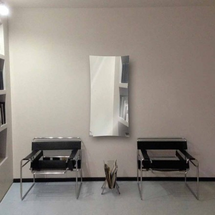 Electric mirror radiator made of tempered glass Barry, modern design