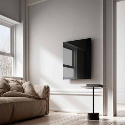 Infrared electric panel heater Clear, modern design, black glass