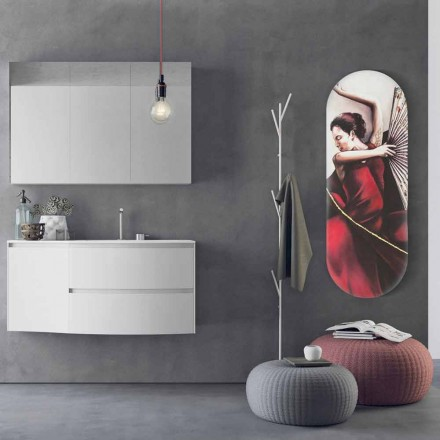 Electric radiator Brian with picture, modern design