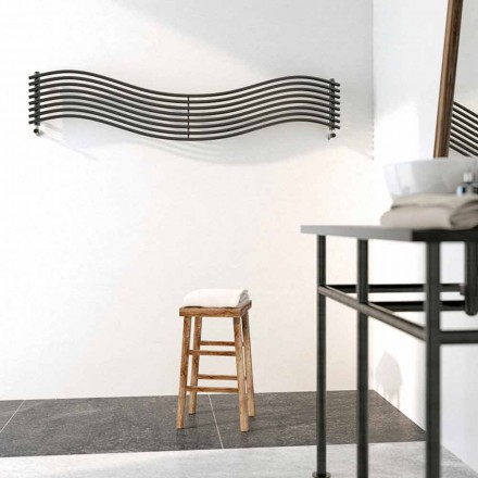 Steel hot water radiator, modern design, Wave by Scirocco H