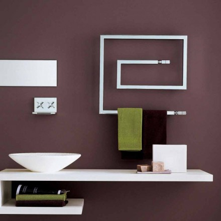Stainless steel designer hot water radiator Snake by Scirocco H