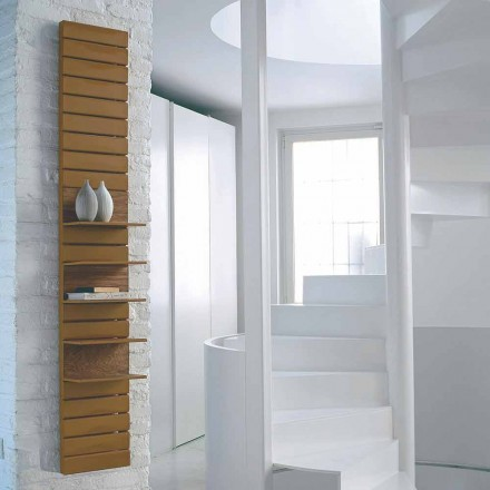 Steel hot water radiator with wooden shelves Utility by Scirocco H