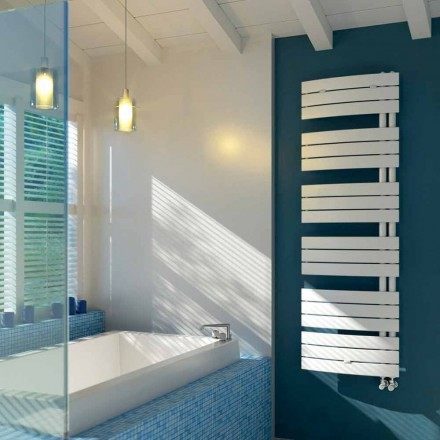 White steel hot water radiator, modern design, Sail  by Scirocco H