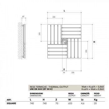Square design hydraulic trim made in Italy Square Scirocco H