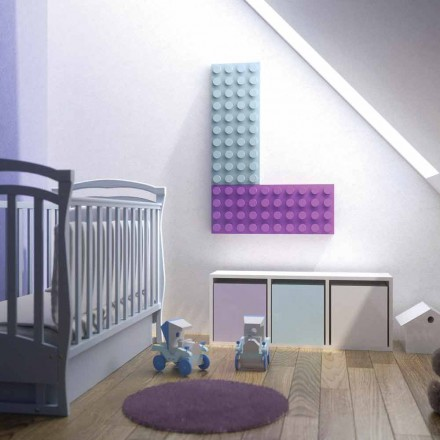 Decorative lego brick electric radiator made in Italy by Scirocco H