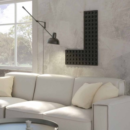Modern design hot water radiator Brick made in Italy by Scirocco H