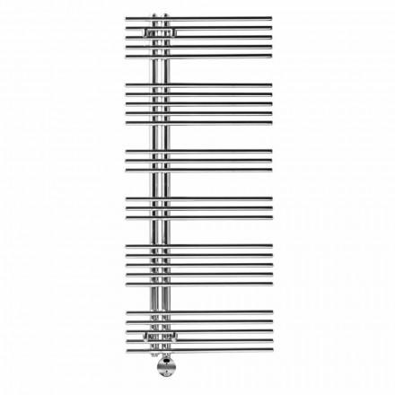 Electric heated towel rail in chromed steel design 700 W - peacock