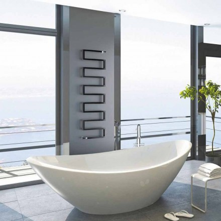 Vertical hot water radiator Snake by Scirocco H, modern design