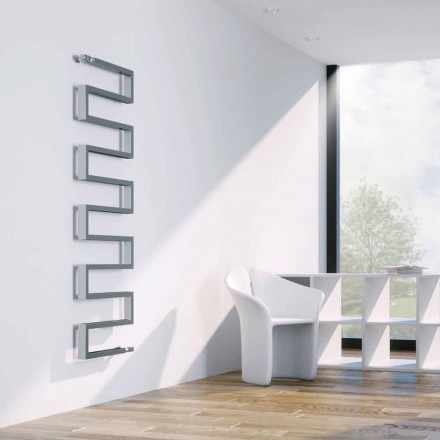 Modern vertical hot water radiator with chrome finish Snake Scirocco H