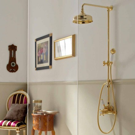 Thermostatic External Shower in Brass, Classic Style, Made in Italy - Ursula