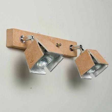 Toscot Piastra handmade terracotta wall sconce 2 directional lights