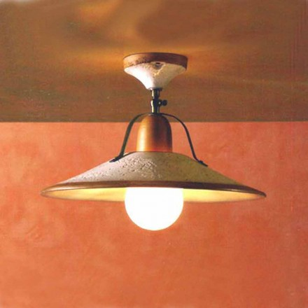 Toscot Asiago handmade terracotta ceiling light made in Tuscany