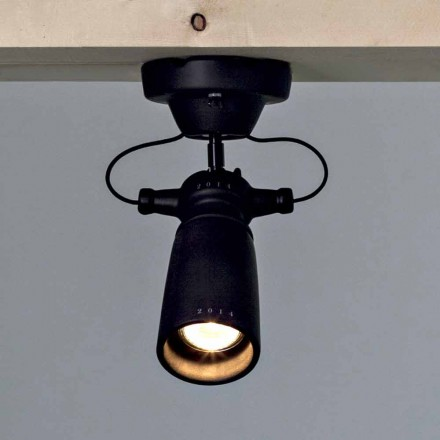 Toscot Battersea ceiling spotlight made of terracotta, modern design