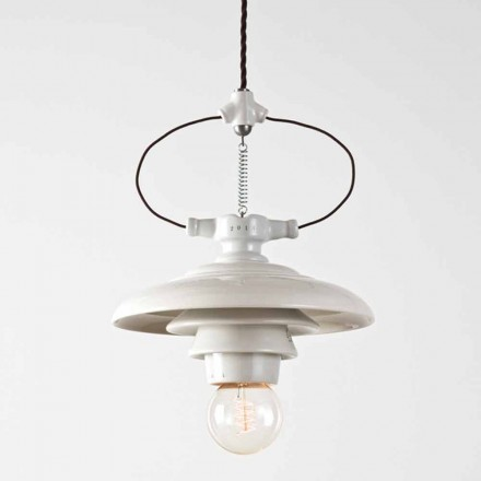 Toscot Battersea terracotta spring pendant light