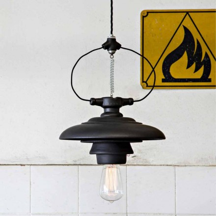 Toscot Battersea ceramic pendant lamp, modern design made in Italy