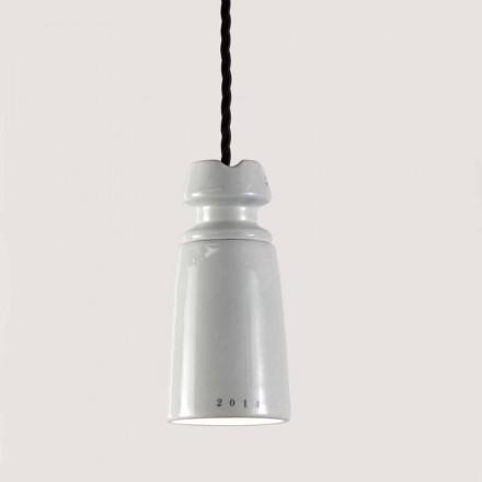 Toscot Battersea handmade ceramic pendant lamp, Italian design