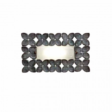 Toscot Boboli rectangular wall sconce made in Tuscany