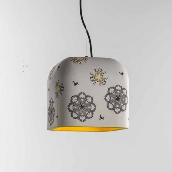 Toscot Camaleòn ceramic pendant lamp made in Tuscany