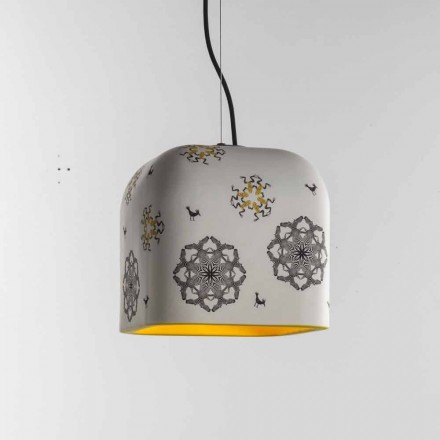 Ceramic pendant lamp Toscot Camaleòn made in Tuscany