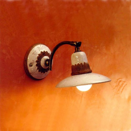 Toscot Fiesole handmade terracotta wall sconce made in Tuscany