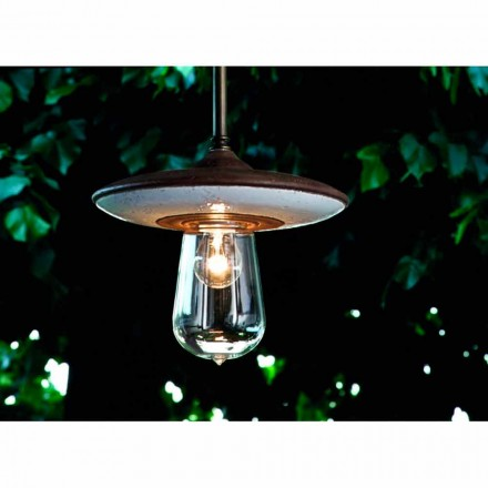 Toscot Fiorile handmade terracotta outdoor ceiling lamp