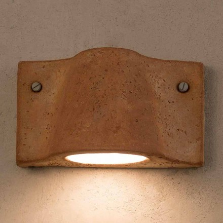 Toscot Lido indoor / outdoor terracotta wall lamp made in Italy