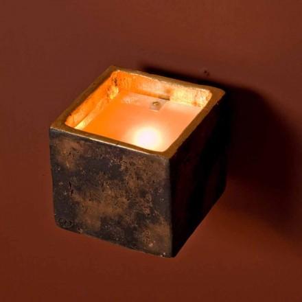 Toscot Montecristo Cube terracotta wall sconce