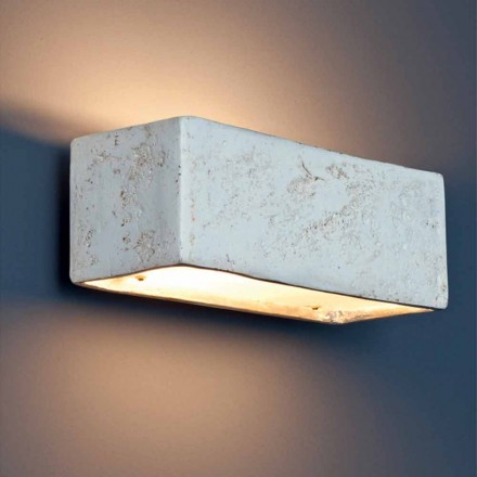 Toscot Montecristo rectangular terracotta wall sconce