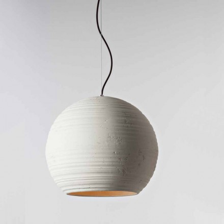 Toscot terracotta pendant lamp Newton, made in Tuscany