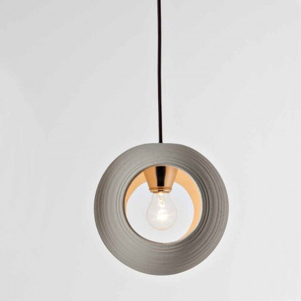 Toscot Newton terracotta pendant lamp, made in Italy