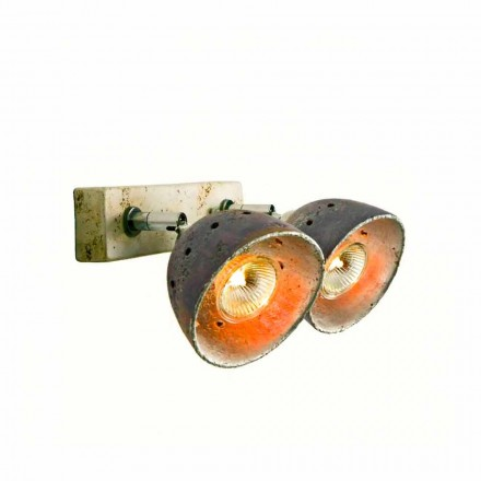 Toscot  Noceto terracotta spotlight with 2 directional lights